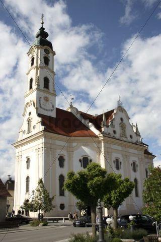 Most beautiful village church in the world in Steinhausen, district of Biberach, Upper Swabia, Baden-Wuerttemberg, Germany, Europe