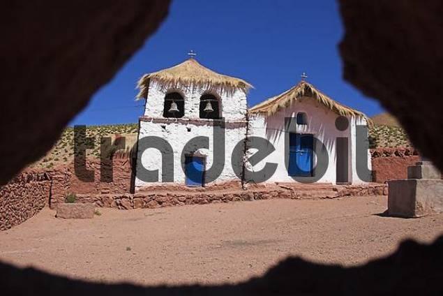Church of Machuca, Atacama desert, northern Chile, South America