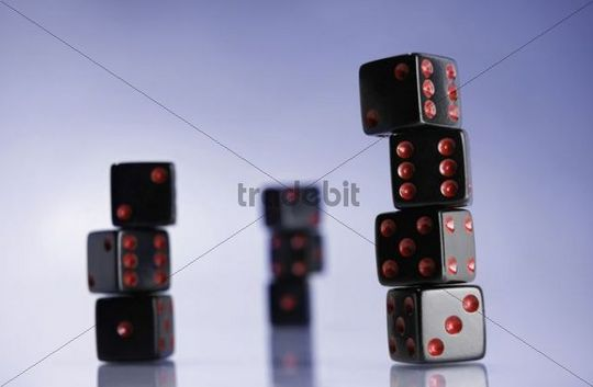 Stacks of dice