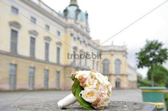 Bridal bouquet, Charlottenburg chateau park, Berlin, Germany, Europe