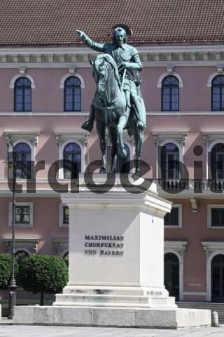 equestrian statue elector Maximilian I Munich, Upper Bavaria, Germany