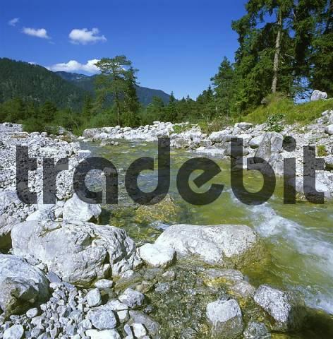 Kuhflucht creek near Farchant Werdenfelser Land country of Werdenfels district of Garmisch-Partenkirchen Upper Bavaria Germany