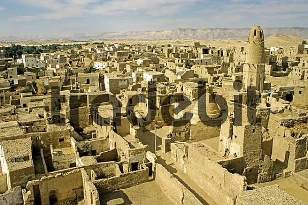 oasis Dachla UNESCO protected old town El Kasr Egypt