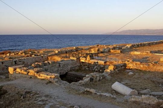 Excavation site, Hersonissos, Crete, Greece, Europe
