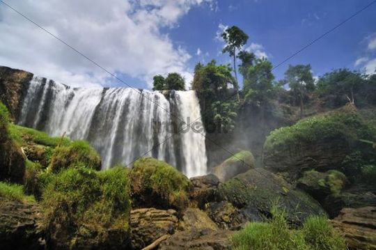 Elephant Falls, waterfall, Central Highlands, Vietnam, Asia