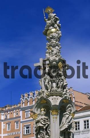 plague statue in Retz , Lower Austria