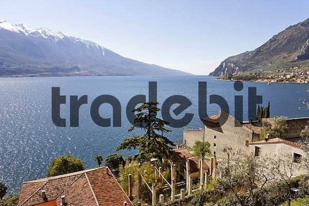 villa and an old abandoned lemon greenhouse called Limonaie, Limone sul Garda, Lake Garda, Italy