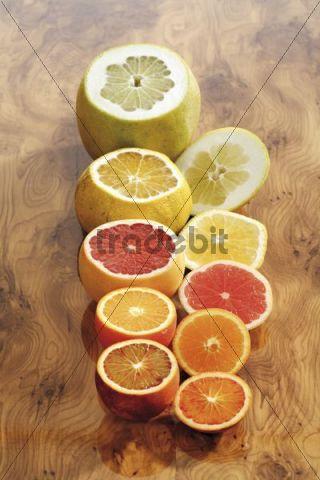 Citrus fruits, Pomelos or Pummelos, Blood Oranges, Oranges, Uglis and Grapefruit