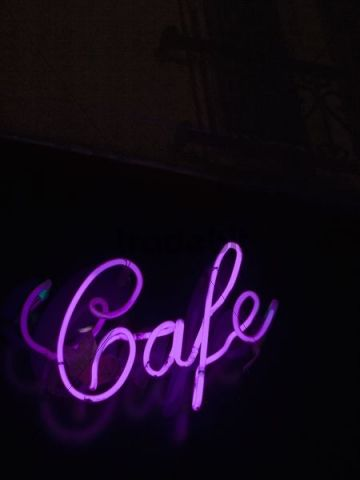 cafe neon lettering paris france europe download abstract. Black Bedroom Furniture Sets. Home Design Ideas