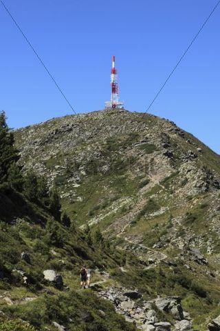 Mt. Patscherkofel with transmitter masts, Tux Alps, Tyrol, Austria, Europe
