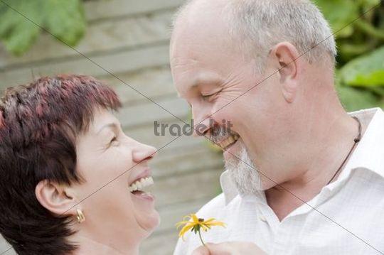 Happy elderly couple, 50+