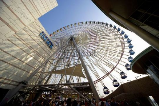 Ferris wheel, western architecture, exterior, Taipei, Taiwan, China, Asia