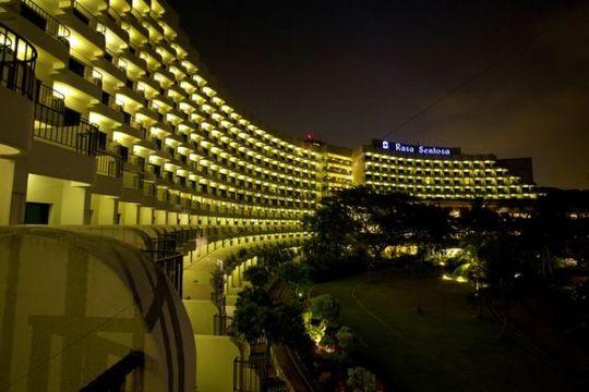Rasa Sentosa Resort at night, Singapore, Asia