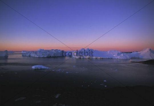 Icebergs, Kangia Ice Fjord, UNESCO World Heritage Site, Ilulissat, Greenland