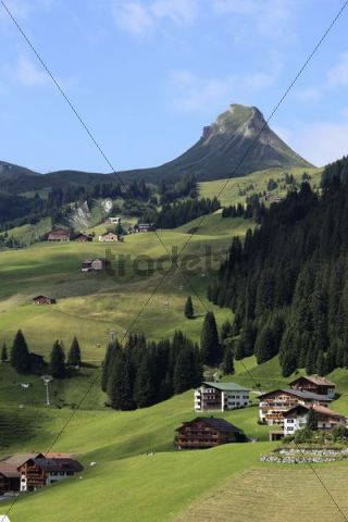 Damuels, Damuelser Mittagsspitze mountain, Bregenzerwald, Bregenz Forest, Vorarlberg, Austria, Europe