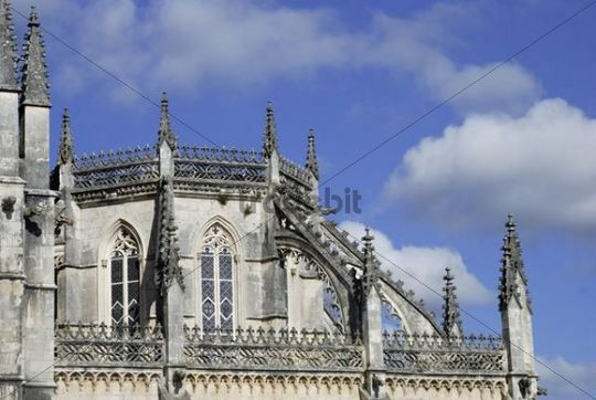 Dominican monastery Mosteiro de Santa Maria da Vitoria, UNESCO World Heritage Site, Batalha, Portugal, Europe