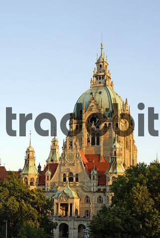 the new city hall in Hannover Lower Saxony Germany
