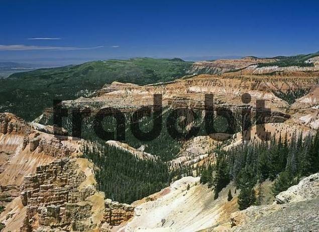 view from the Chessman Ridge Overlook , Cedar Breaks National Monument, Utah, USA