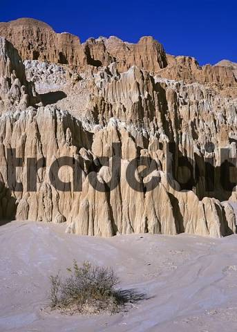 formations eroded out of clay, near Panaca on the road 93, Nevada, USA
