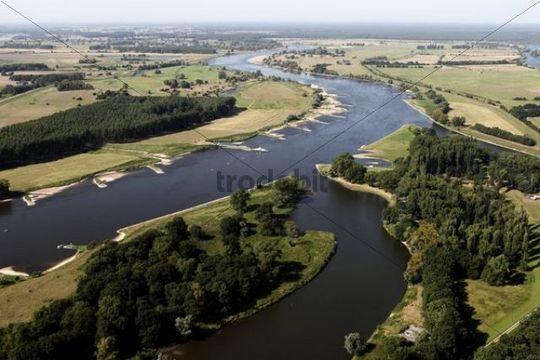 Aerial, river Elbe