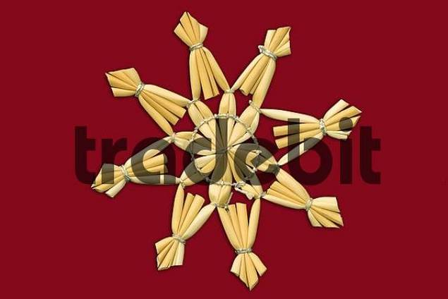 Christmas star red background