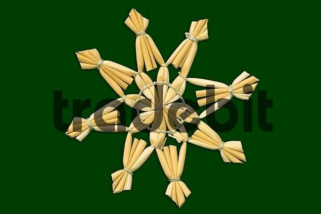 Christmas star green background