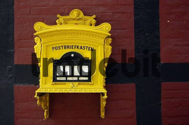 letterbox, Castle Rheda, North Rhine-Westphalia, Germany ...