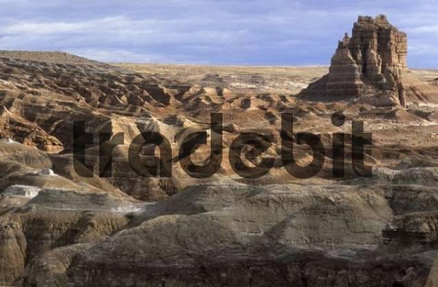 desert landscape, badlands, at San Rafael Reef, Utah, USA