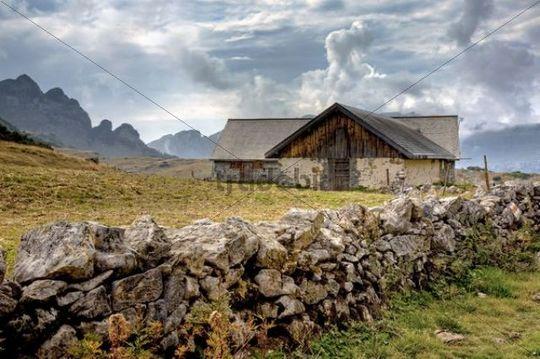 Sisitz refuge in the Eastern Swiss Alps, Austria, Europe