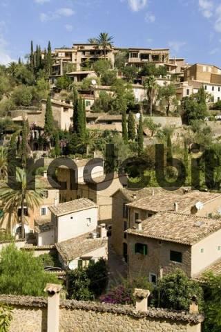 Das Kuenstlerdorf Deia, Mallorca, Balearen, Spanien