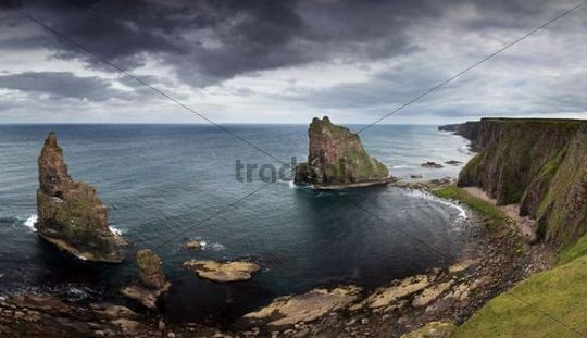 Duncansby Stacks on the north coast of Scotland, United Kingdom, Europe