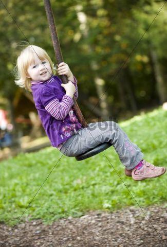 Girl, 3, at the playground