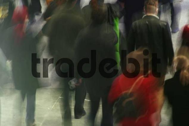people in a pedestrian area