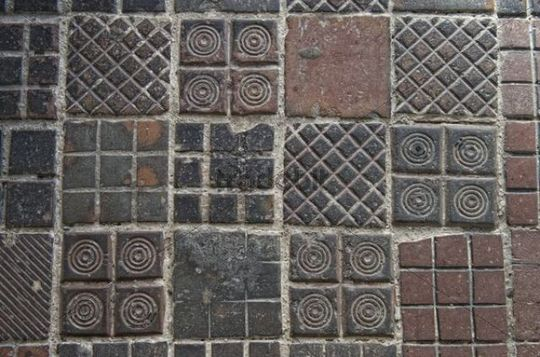 Old paving tiles, town square, Muehldorf am Inn, Bavaria, Germany, Europe