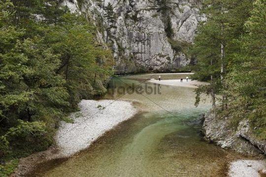 Schwarza River in Hoellental, Hell´s Valley in Reichenau an der Rax, Lower Austria, Austria, Europe