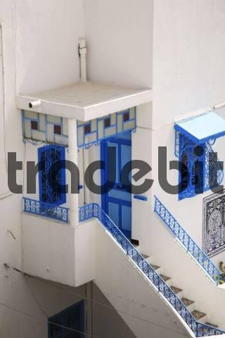 Entrance of a house in Sidi Bou Said, Tunisia