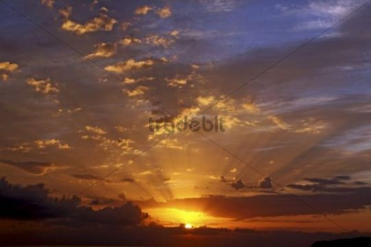 Sunrise, Stalis, Crete, Greece, Europe