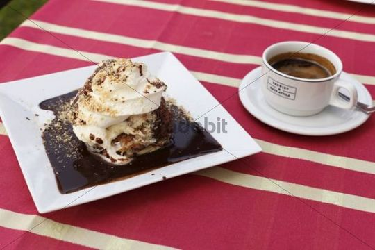 Somloer Nocken speciality and coffee, Burgenland, Austria, Europe