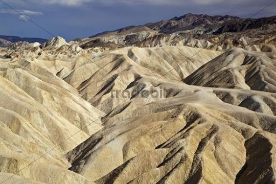 Landscape at Zabriskie Point, Death Valley National Park, Mojave Desert, California, Nevada, USA