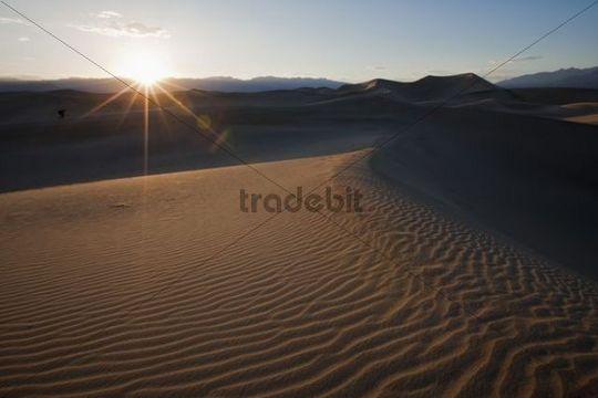 Mesquite Sand Dunes, Death Valley National Park, Mojave Desert, California, Nevada, USA