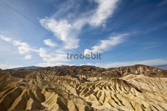 Landscape at Zabriskie Point, Death Valley National Park, Mojave Desert, California, Nevada, USA