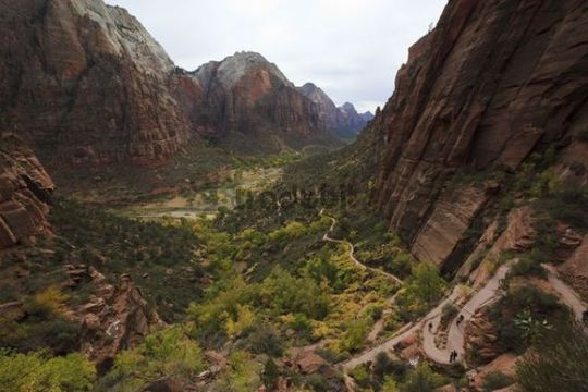 Zion National Park, Zion Lodge, Virgin, Utah, USA, North America