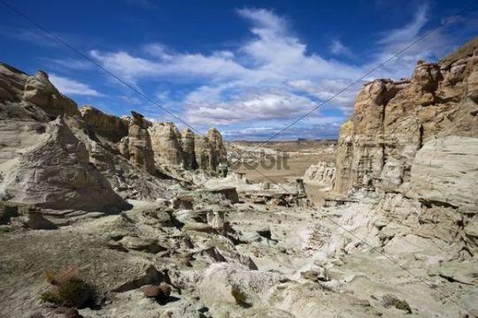 Hoodoos in the White Valley, rock formation, Utah, America, United States