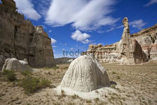 Hoodoos in the White Valley, rock formations, Utah, America, United States