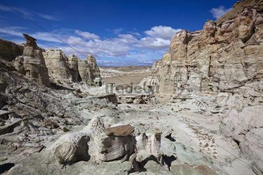 Hoodoos in the White Valley, rock formations, Utah, America, United States