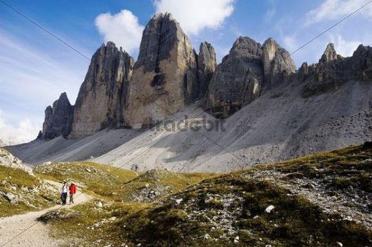 The Three Peaks, Dolomites, Alto Adige, Italy, Europe