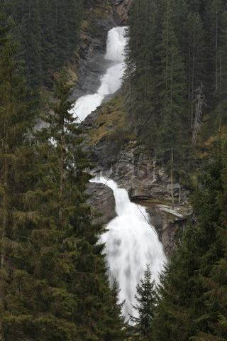 Krimmler Wasserfaelle waterfalls, Nationalpark Hohe Tauern national park, Krimml, Pinzgau, Salzburger Land county, Salzburg, Austria, Europe