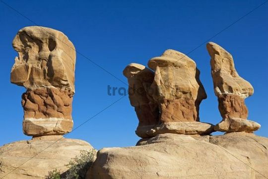 Stone formations in Devils Garden, Hole in the Rock Road, Grand Staircase-Escalante National Monument, Utah, USA
