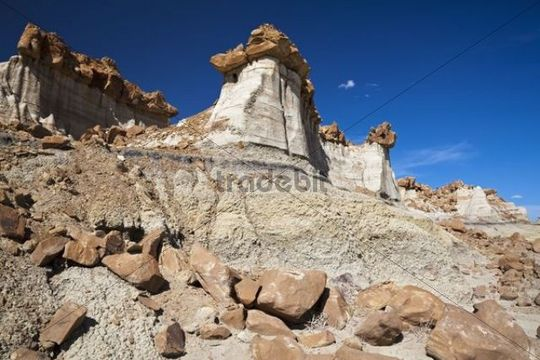 Rock formations, Bisti Badlands, Bisti Wilderness Area, New Mexico, USA