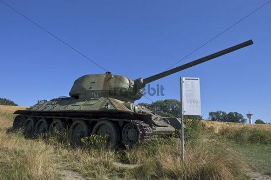 Battle tank of the Red Army in the 2nd World War, German-German Museum Moedlareuth, Bavaria - Thuringia, Germany, Europe